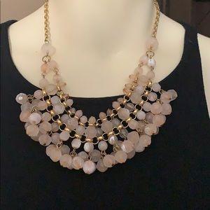 Anthropologie Pink Gold Statement Necklace